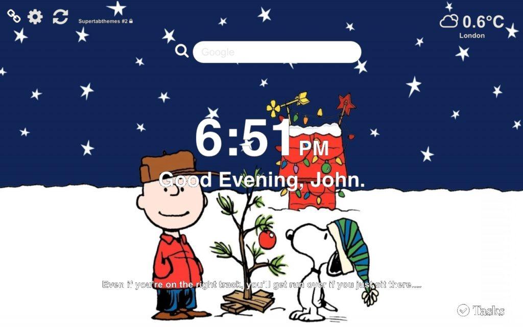 Charlie Brown Wallpaper Tab Theme