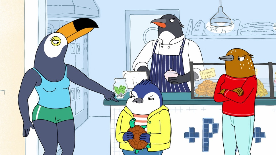 Tuca and Bertie eating