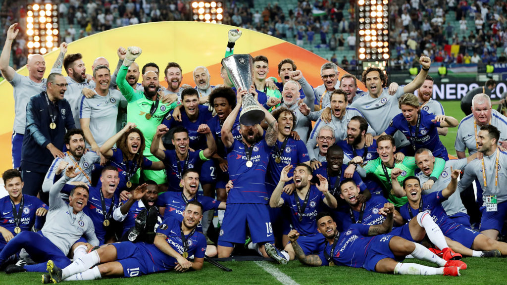 Chelsea FC Winning Europa League