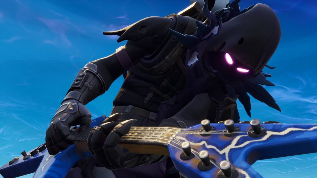 Raven Fortnite Skin Playing Guitar