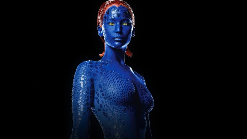 Mystique Dark Phoenix Wallpapers with a photo of Mystique with black background