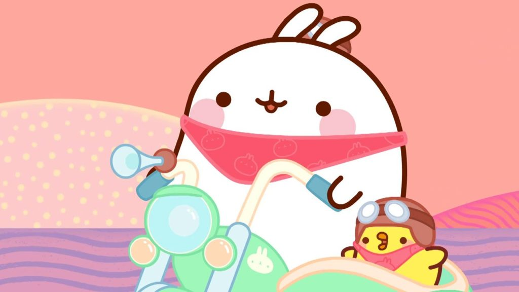 Molang Bunny and Piu Piu