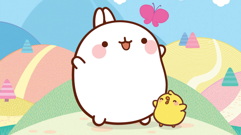 Molang and Piu Piu Wallpaper