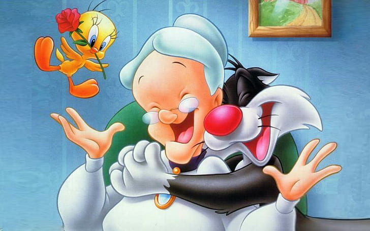 Sylvester Granny Tweety Looney Tunes Wallpaper