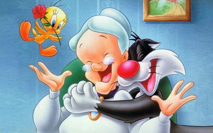 Sylvester Granny Tweety Looney Tunes Wallpaper