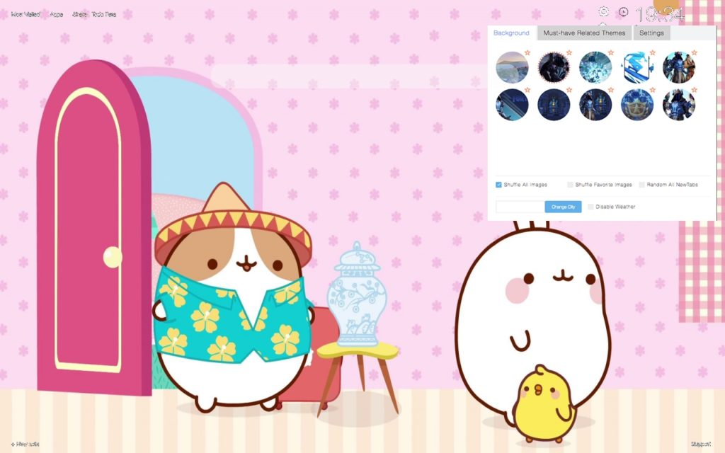 Molang Wallpaper pink