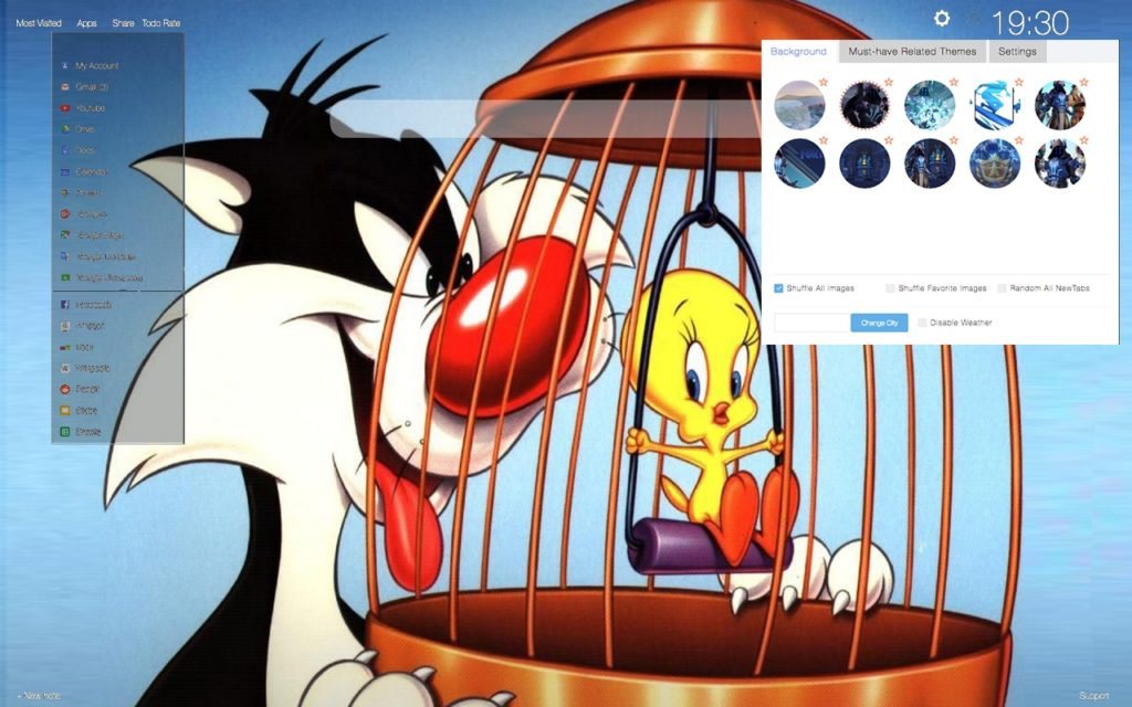 Sylvester and Tweety in a Cage